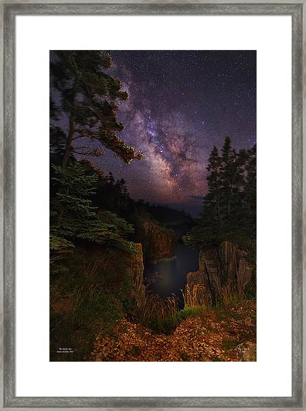 Milky Way Rising Over The Raven's Roost Framed Print