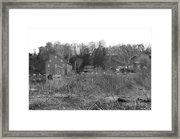 Mill At Clinton Among The Reeds Framed Print
