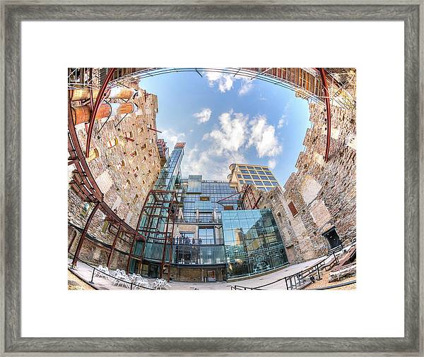 Mill City Museum Wide Angle View Framed Print