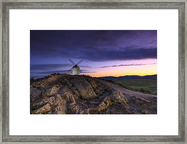 Mill Framed Print by Glendor Diaz Suarez