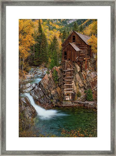 Mill In The Mountains Framed Print