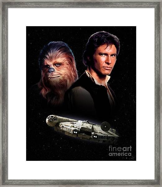 Han Solo - Millenium Falcon Framed Print