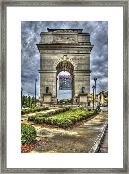 Millennium Gate Atlantic Station Midtown Atlanta Framed Print