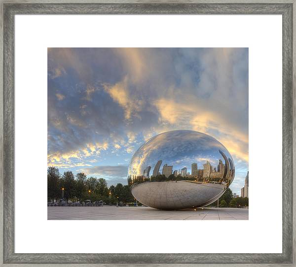 Millennium Park In The Morning Framed Print