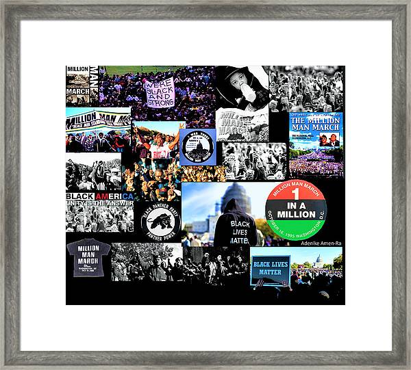 Million Man March Montage Framed Print