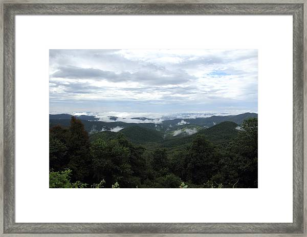 Mills River Valley View Framed Print