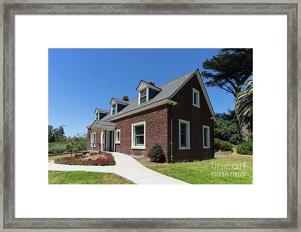 Millwright's Cottage At The Murphy Windmill San Francisco Golden Gate Park San Francisco Ca Dsc6346 Framed Print