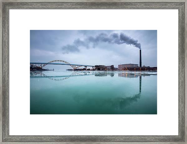 Milwaukee Reflected Framed Print