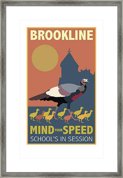 Mind Your Speed Framed Print