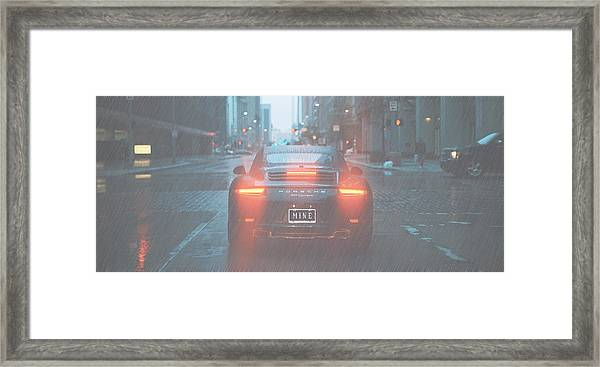 Mine In The Rain Framed Print