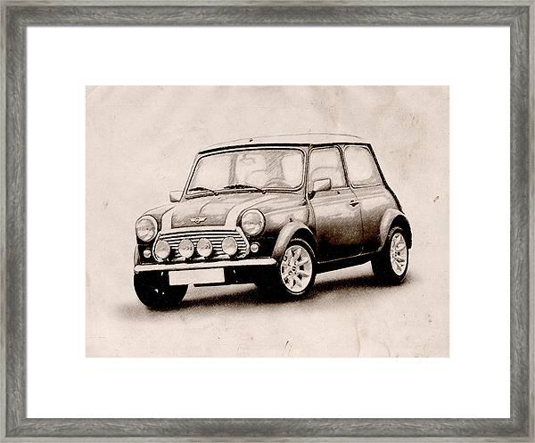 Mini Cooper Sketch Framed Print
