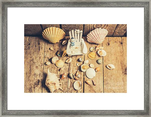 Miniature Sea Escape Framed Print