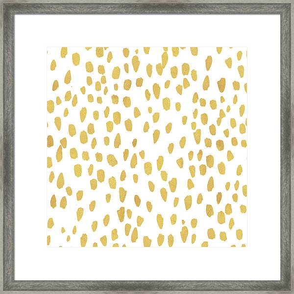 Minimalist Is Gold Framed Print