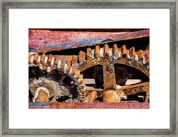 Mining Gears Framed Print