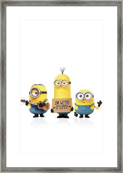 Minions 2015 Framed Print
