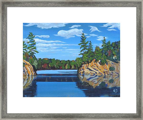 Mink Lake Gap Framed Print