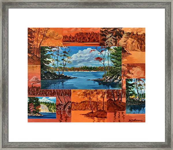 Mink Lake Looking North West Framed Print