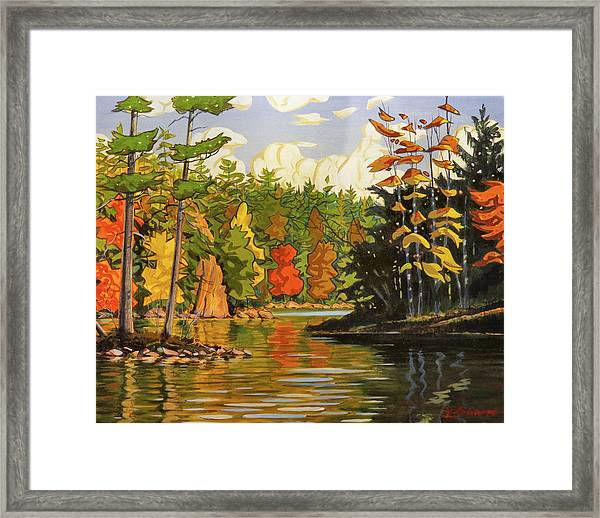 Mink Lake Narrows Framed Print
