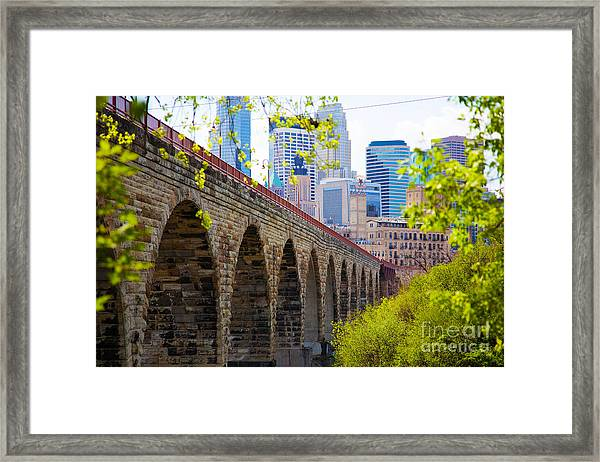 Minneapolis Stone Arch Bridge Photography Seminar Framed Print