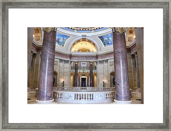 Minnesota House Doors Framed Print
