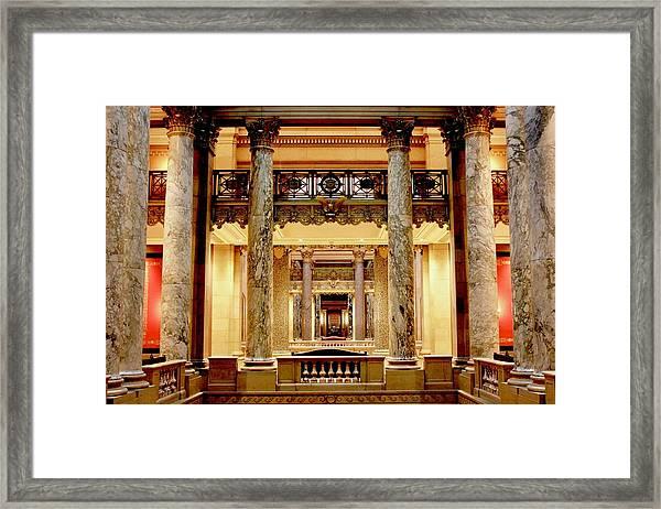 Minnesota Capitol Senate Framed Print
