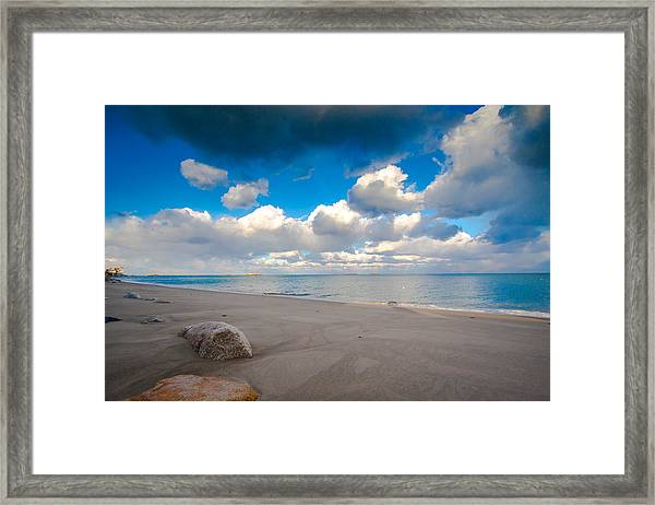 Minot Beach In Scituate Massachusetts  Framed Print
