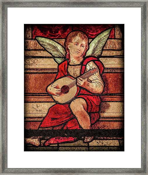 Framed Print featuring the photograph Paris, France - Minstrel Angel by Mark Forte