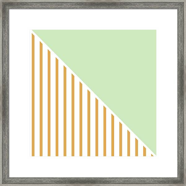 Mint And Gold Geometric Framed Print