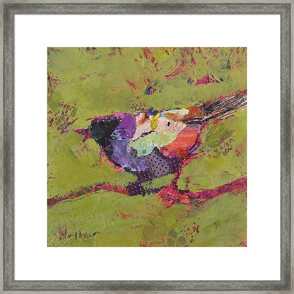 Framed Print featuring the painting Mirabelle by Shelli Walters