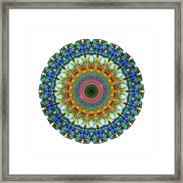 Miracle Mandala Art By Sharon Cummings Framed Print