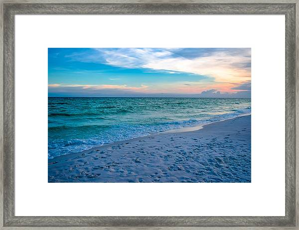 Miramar Blue  Framed Print