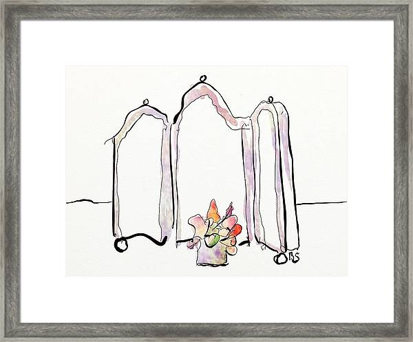 Sketch Mirror Framed Print