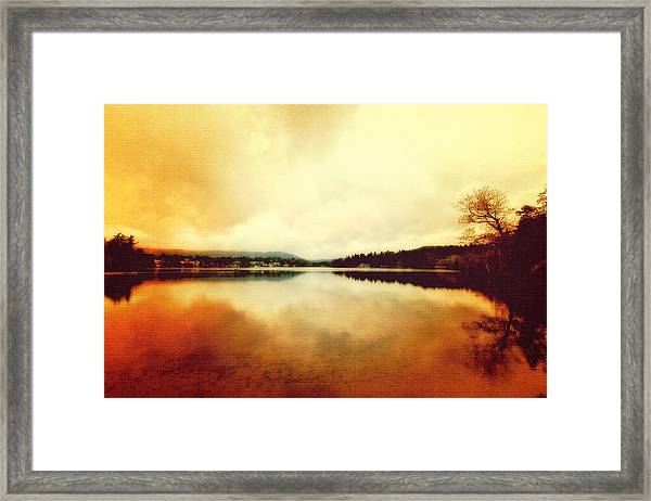 Mirror Lake At Sunset Framed Print