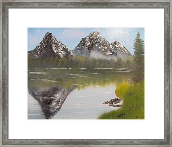 Mirror Mountain Framed Print
