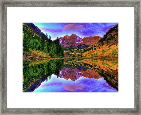 Mirror Of Fall Framed Print