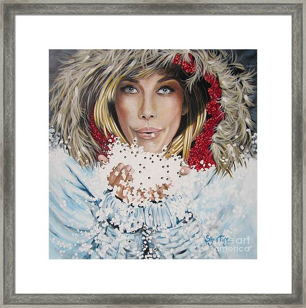 Remarkable Russian Girl.            From The Attitude Girls  Framed Print