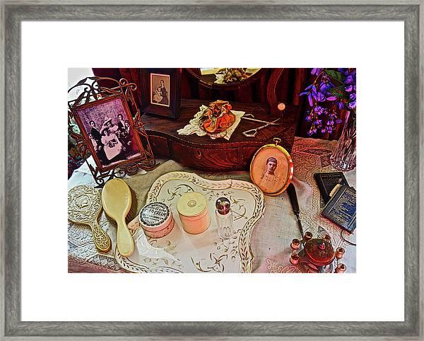 Miss Mary's Table. Framed Print