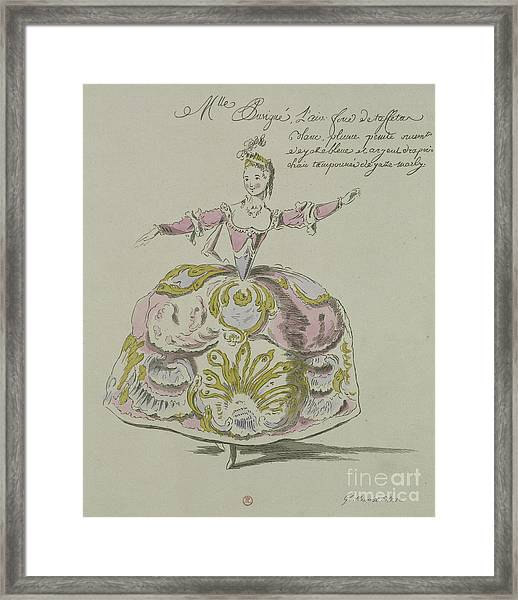 Miss Puvigne As Air, In Zoroastre, A Libretto By Cahusac Framed Print