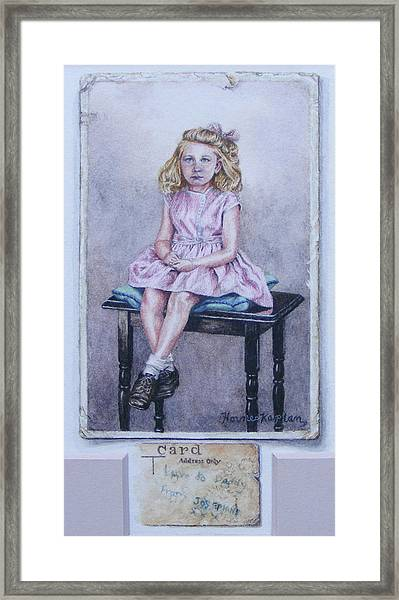 Missing Daddy, Devonshire 1940 Framed Print