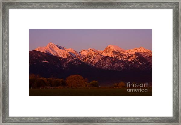 Mission Alpenglow Framed Print