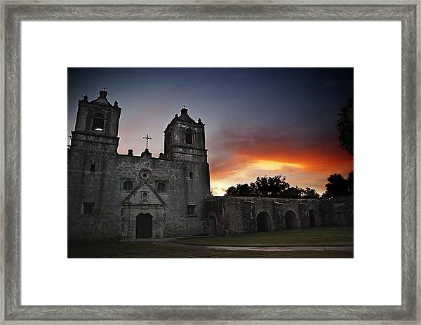 Mission Concepcion At Sunrise Framed Print