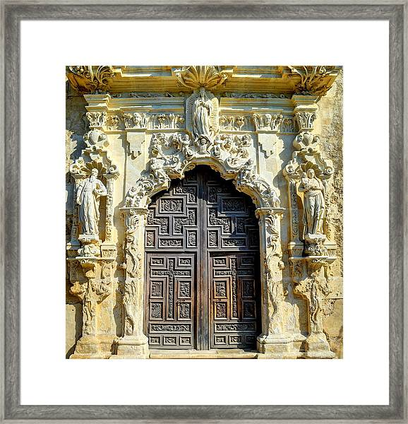 Mission Door Framed Print