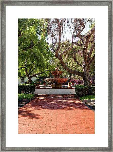 Mission Fountain Framed Print