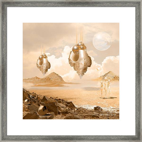 Mission In A Far Planet Framed Print
