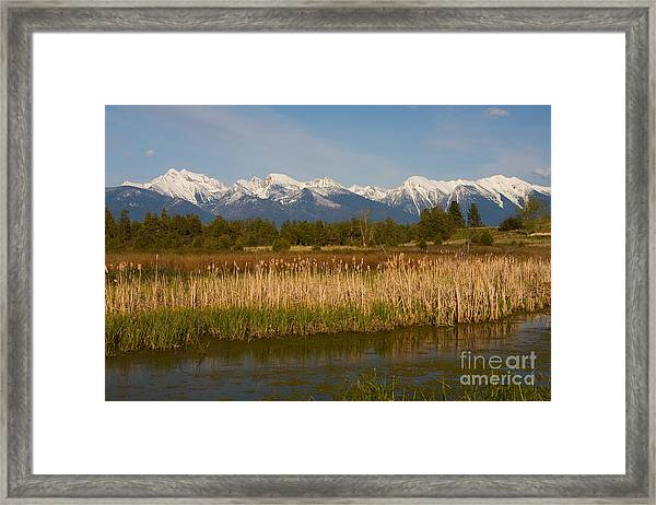 Mission Mountain Glory Framed Print
