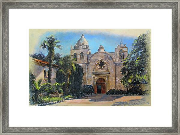 Mission San Carlos In Carmel By The Sea Framed Print
