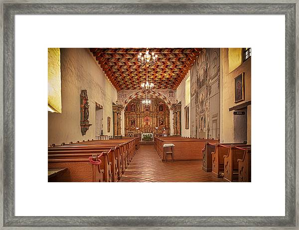Mission San Francisco De Asis Interior Framed Print