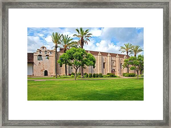 Mission San Gabriel Arcangel, San Gabriel, California Framed Print