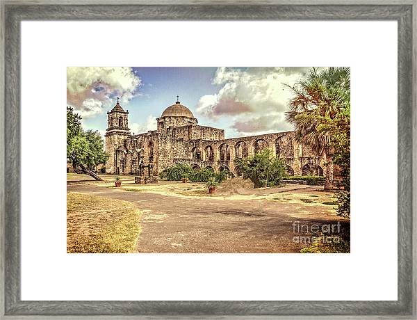 Mission San Jose Tx Framed Print