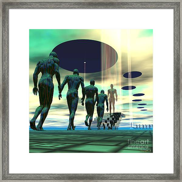 Mission To Earth Framed Print